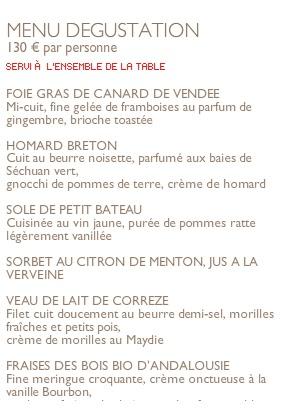 menu cyril lignac