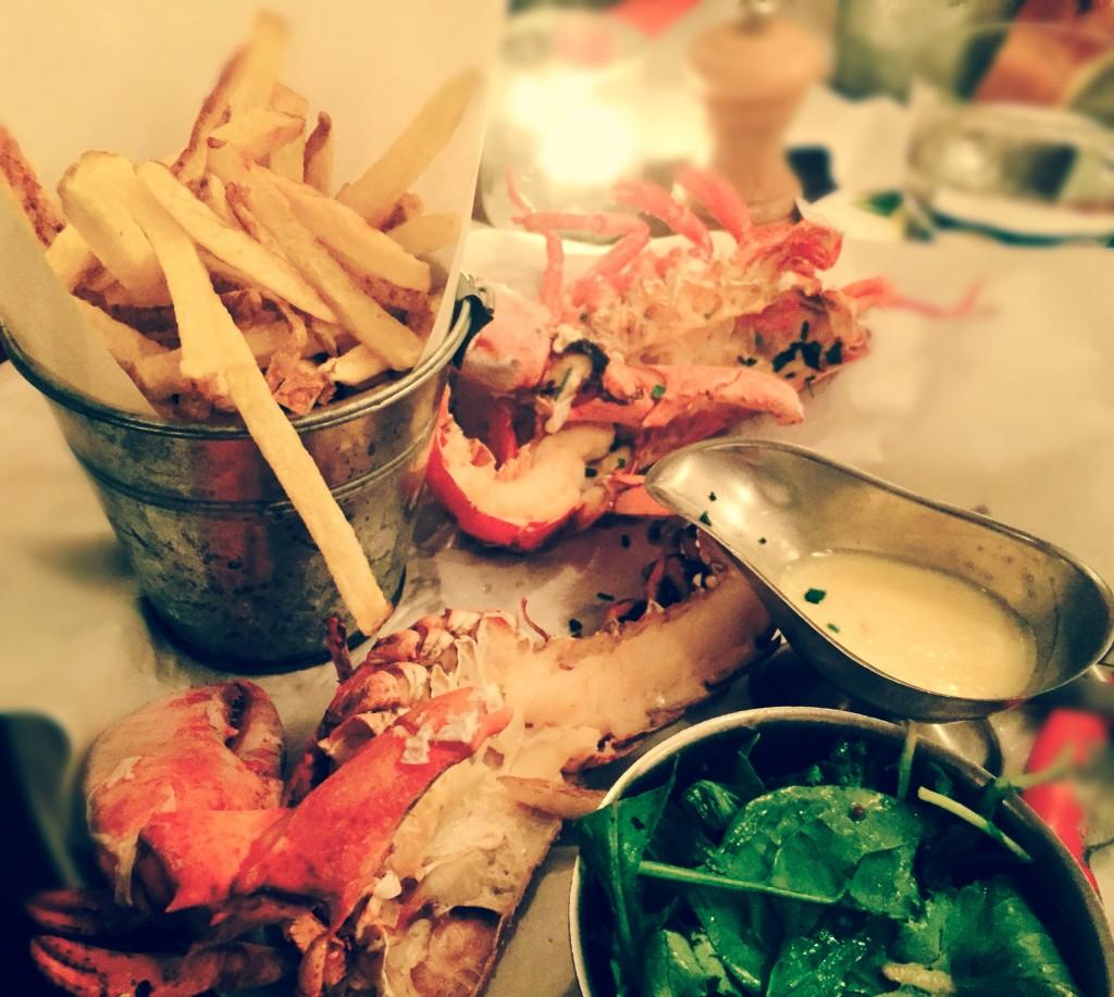 Le homard entier rôti